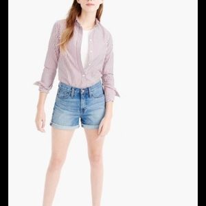 J CREW  BF  HIGH RISE MEADOW WASH JEAN SHORTS 10
